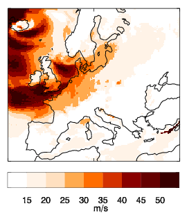 Image of Recalibrated mean for Daria (Burns' Day storm)